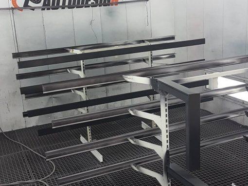 Peinture profile aluminium de toiture